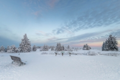 Blaue Stunde vor Sonnenaufgang