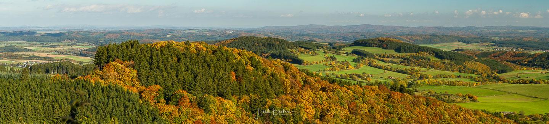 Panorama-Aussicht vom Bollerberg bei Hallenberg