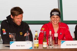 Bundestrainer René Spies und Annika Drazek