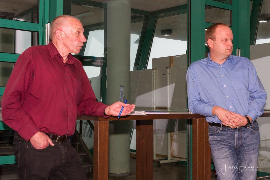 Pressesprecher Paul Senske und Geschäftsführer Stephan Pieper