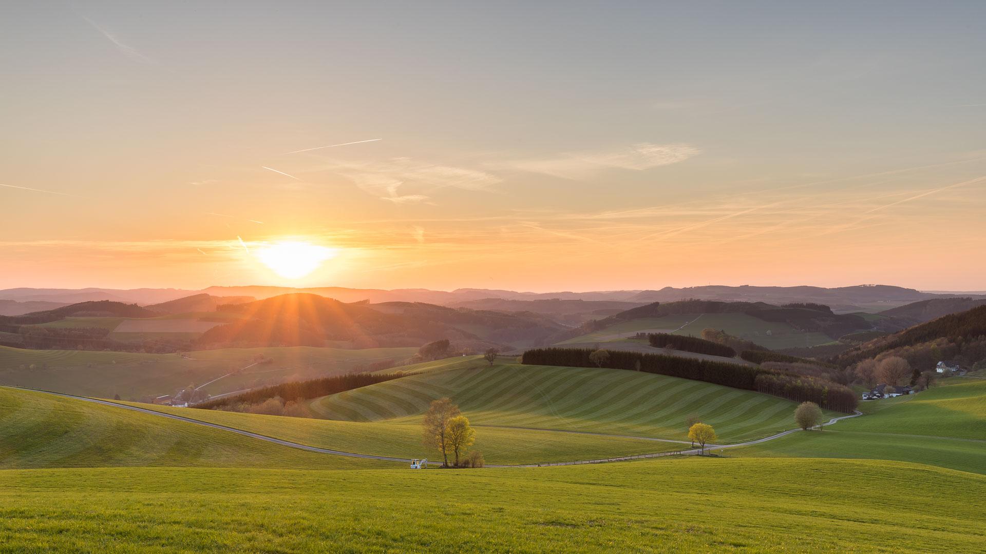 Sonnenuntergang in Oberhenneborn