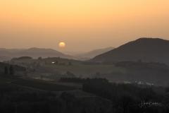 Sonnenuntergang im Saharastaub 02