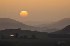 Sonnenuntergang im Saharastaub 01