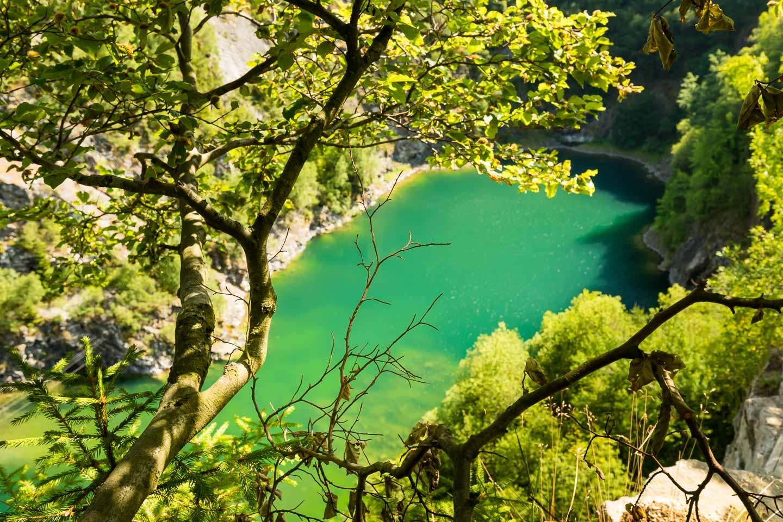Bergsee im Steinbruch am Meisterstein