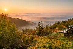 Inversionswetterlage - Nebel in der Medebacher Bucht 3