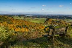 Herbstliche Aussicht vom Bollerberg in die Medebacher Bucht