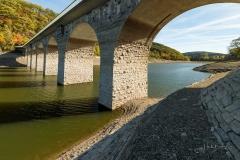 Diemelsee-Niedrigwasser im Herbst 2019