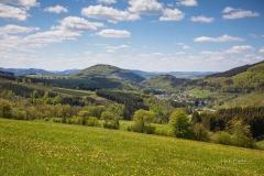 Blick auf Oberkirchen im Frühjahr