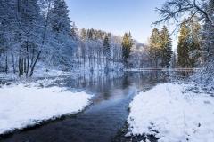 Mühlenteich im Winter 1
