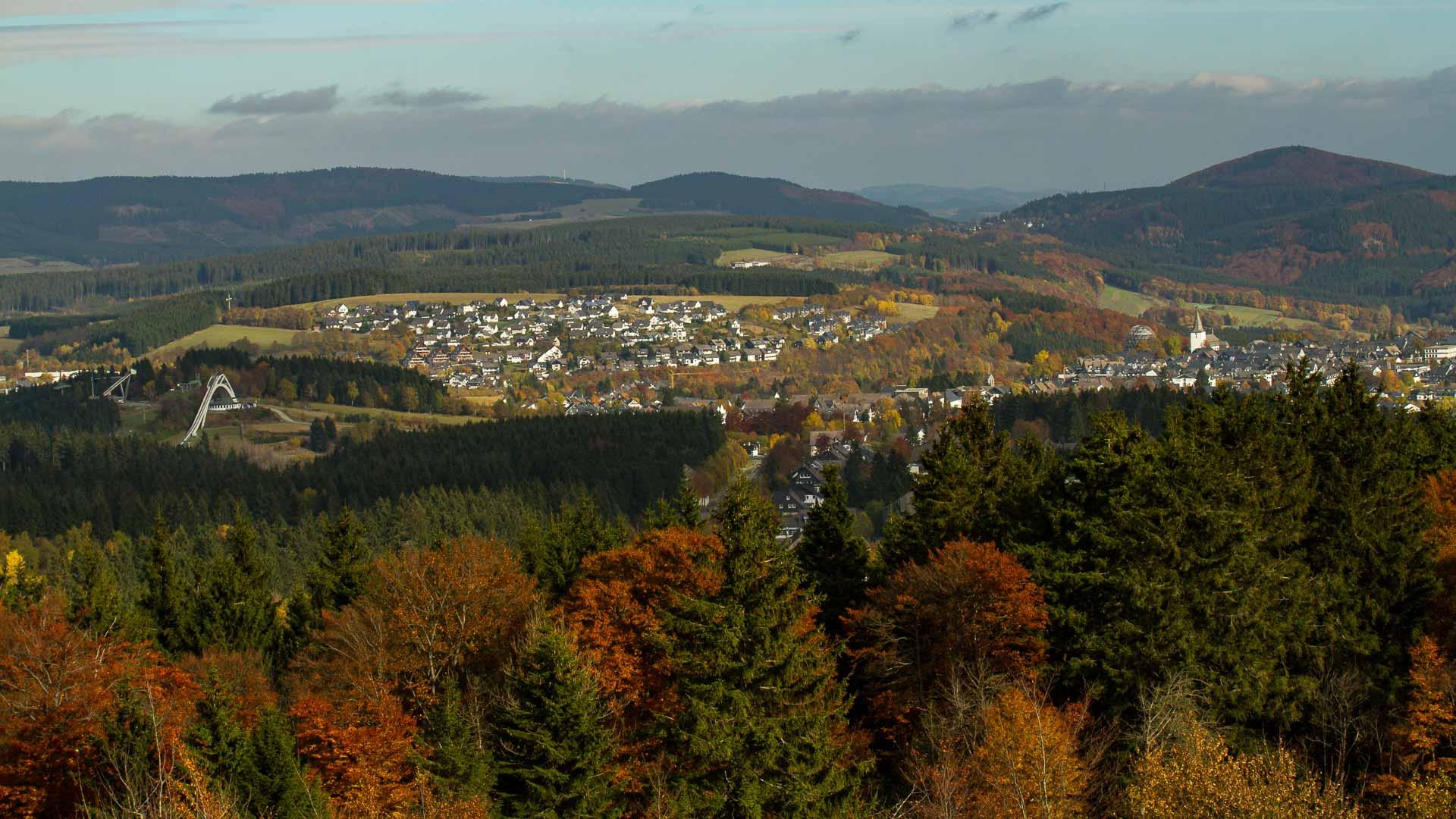 Blick auf Winterberg